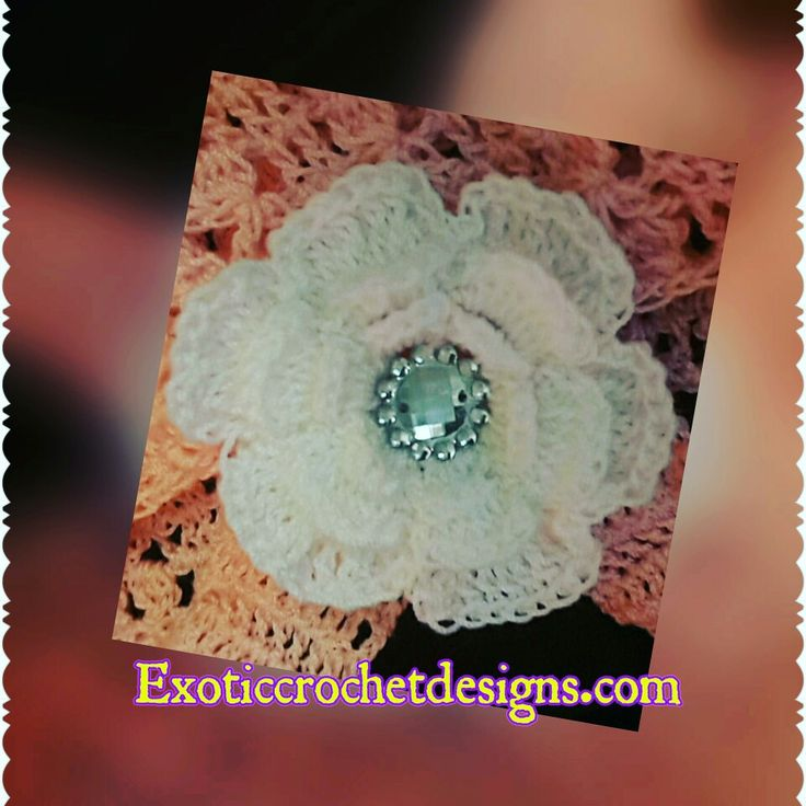 Crochet flowers.  Small flower