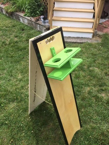 Cornhole Scoreboard w/ Beer Holder #6: Finishing Up - by edwood1975 @ LumberJocks.com ~ woodworking community