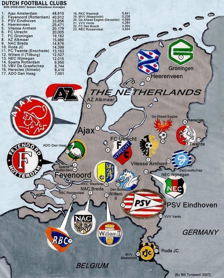 Maps Of The Netherlands Football Club Logo European Football European Soccer