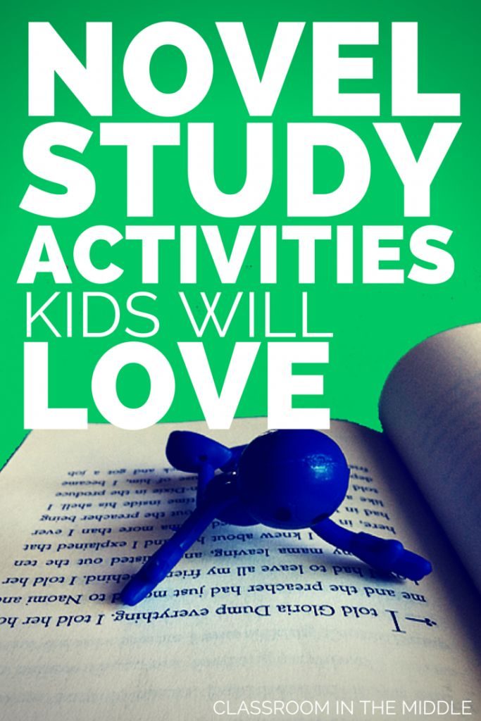 Novel Study Activities Kids Will Love. Guest post by Sharon Fabian from Classroom in the Middle.