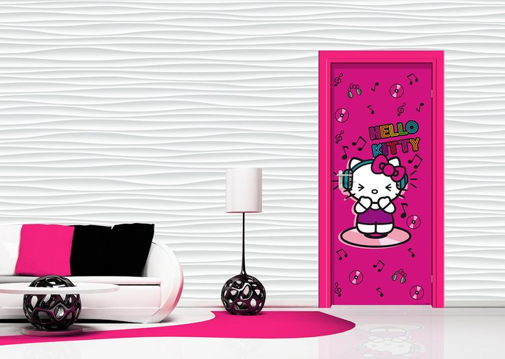 Hello Kitty Girlu0027s Room Wall Mural Or Door Mural By WallandMore! Part 49