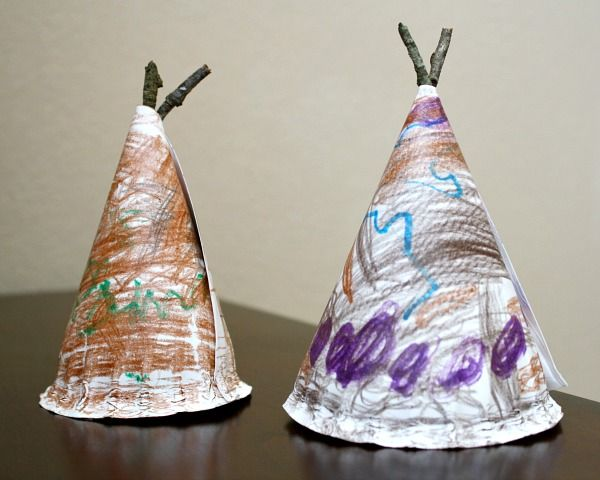 Paper Plate Tepee Craft for Kids