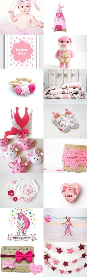 Sugar Bunny by Je Suis Mimi Atelier on Etsy. Baby girl gift guide in pink!
