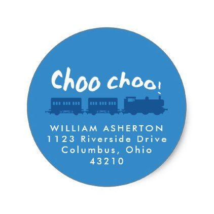 Train return address sticker - party gifts gift ideas diy customize