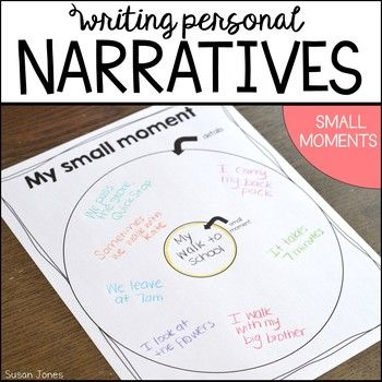 Personal Narrative Writing unit aligned with the common core standards! This unit uses small moments to help guide students in writing narratives about their life. This was designed with first grade in mind, but can easily work in kindergarten and second grade classrooms. Please download the preview to see more!