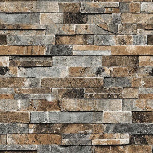 Function Waterproof Sound Absorbing Heat Insulation Smoke Proof Moisture Proof Mould Proof Sound Brick Pattern Wallpaper Brick Wall Wallpaper Faux Stone Walls