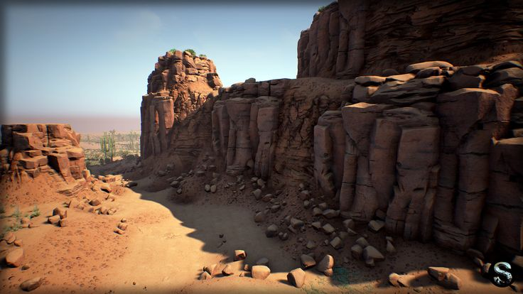 ArtStation - Red Desetr Nature (UE4), SilverTM .