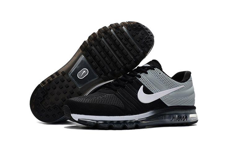 Nike Air Max 2017 Goedkoop Heren Loopschoenen Zwart Grijs