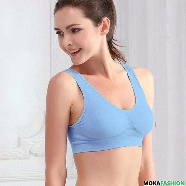 Women Seamless Padded Comfort Yoga Sports Bras Fitness Wire Free Stretch Tops^^