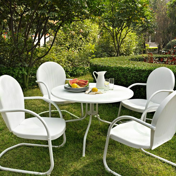 Crosley Griffith Metal 5 Piece Outdoor Dining Set