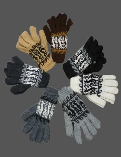 Handmade Peruvian Alpaca Wool Gloves