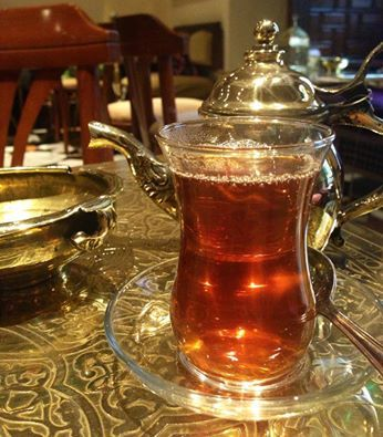 """Egyptians love their cup of tea at anytime of the day. The word """"Easteacana"""" is commonly used to refer to the cup in the picture. The origin of the word dates back to the British occupation and literally means """"EAST -TEA-CAN""""اصل كلمة """"استكانة """" يعود الي فترة الاحتلال الانجليزي و كان يطلق الإنجليز علي كوباية الشاي كلمة """"ايست تي كان"""" و التي تعني : ايست: الشرق تي: شاي كان: إناء"""