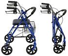 ✯§ #4 Wheel Rollator #Medical Walker with #Seat Mobility Disability Aid Fold... Great http://ebay.to/2hV5mM7
