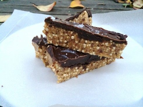 SALTED CARAMEL, QUINOA & CACAO SLICE Treats - Raw Vegan - Baking - Unbaking - Cheesecake - Healthy Dessert
