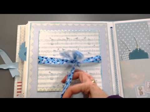 Mini Album para bebé (scrapbooking baby boy album) - YouTube