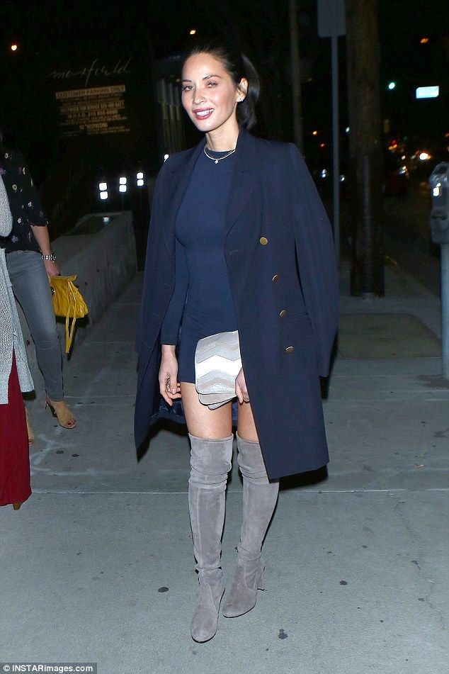 Kick it like Olivia in suede boots by Stuart Weitzman #DailyMail Click 'Visit' to buy now