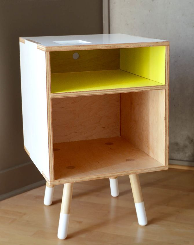 11 best images about diy plywood furniture on pinterest for Plywood bedside table