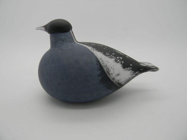 Iittala Nuutajärvi Oiva Toikka Bird Bullfinch Punatulkku grey RARE
