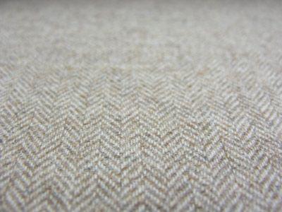 Wool, 'Herringbone' Oatmeal