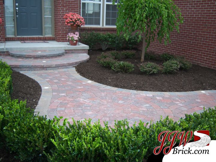 Landscaping Design With Brick Paver Entry Way In Macomb