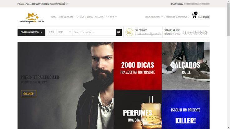 www.offweb.com.br Desenvolvimento de Site Profissionais  #sites #modelos #webdesigner    Este foi um site muito divertido de se fazer, consiste numa super loja virtual de presentes masculinos. www.presentepraele.com.br