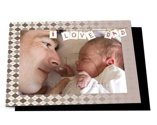 Una dedica per il tuo papà da decorare con una foto
