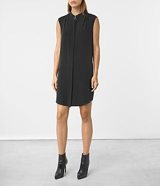Women's Sirius Silk Dress (Black)