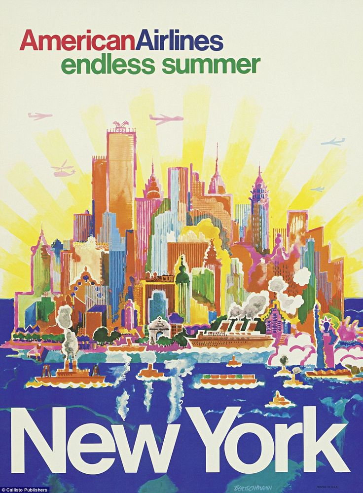 New York was one of the most popular destinations featured in the adverts in Airline Visu...
