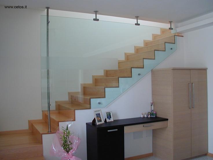 33 best parapetti e corrimano images on pinterest iron ladder and libra - Corrimano in vetro per scale ...