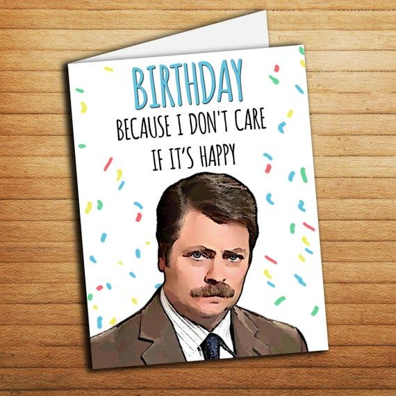 Pin By Leanne Lasala On Craft Ideas Parks And Rec Gifts Funny Birthday Cards Birthday Cards