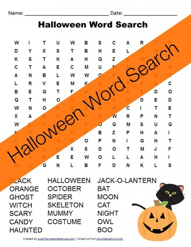 halloween word search free printable - Words About Halloween