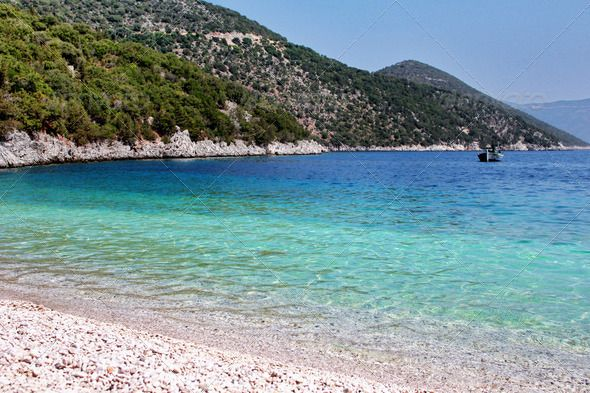 Colorful Greek Beach