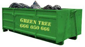 Duży kontener na śmieci firmy Kontenerygreen Wrocław