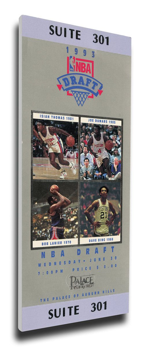 1993 NBA Draft Canvas Mega Ticket - Webber, Hardaway, Mashburn