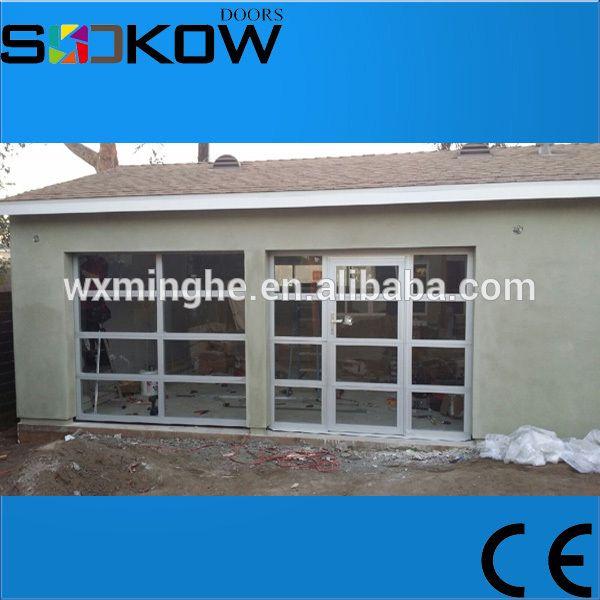 anodized aluminum glass panel pass through garage door/aluminum garage door prices