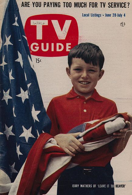 ...: June 28, Tvguide, Guide Covers, 1950S Tv, Tv Guide, 1958 Tv, Covers 1950S, Jerry Mather, Classic Tv