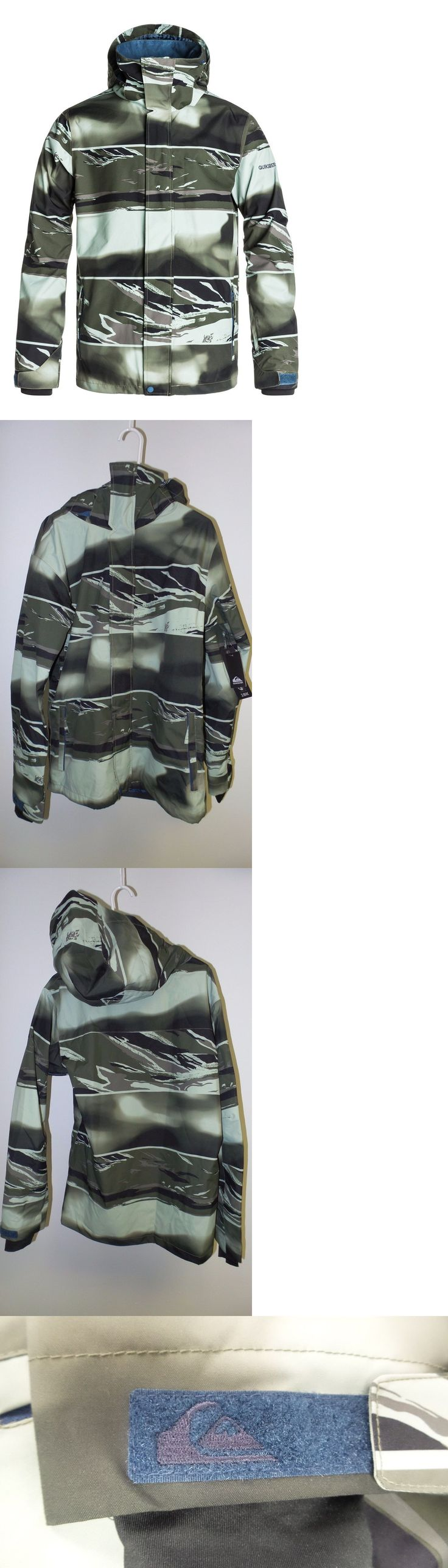 Coats and Jackets 26346: New Quiksilver Mission Printed Shell Jacket -Size: Medium- -Alaska Camo - -> BUY IT NOW ONLY: $54.95 on eBay!