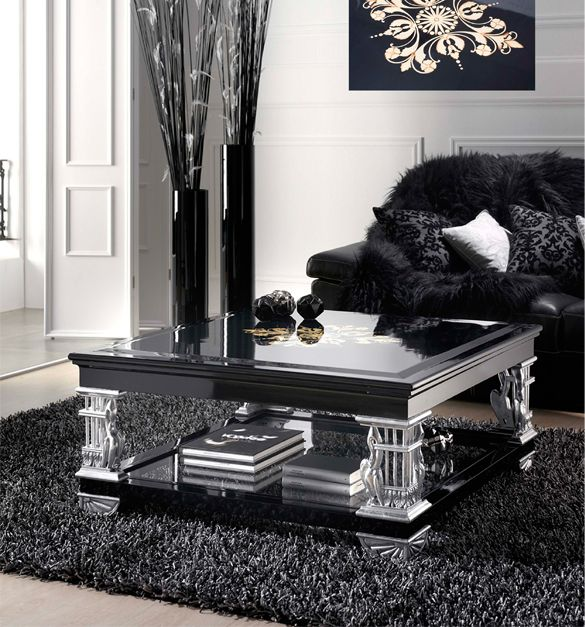 Silver Living Room, Silver Room, Black Coffee Tables, Modern Coffee Tables,  Designer Living Rooms, Best Coffee, Black Silver, Living Room Furniture,  Living ... Part 59