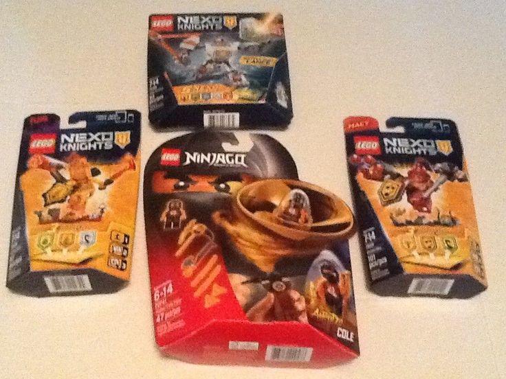 BRAND NEW LOT OF 4 LEGO SETS 3 NEXO KNIGHTS LEGO SETS & 1 NINJAGO LEGO SET COOL