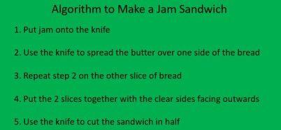 Teach coding using just a jam sandwich