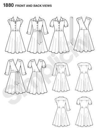 more shirt dress patterns! new simplicity/project runway collection 1880