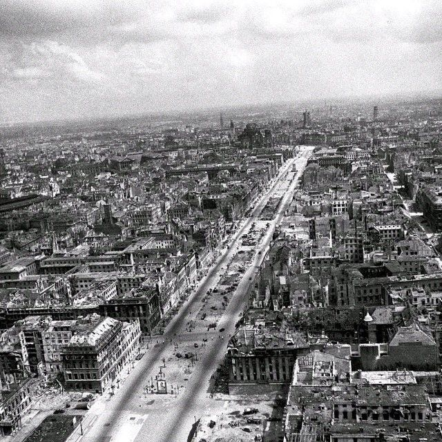 #Berlin at The End of The War in 1945