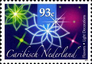 Stamp: Poinsettia (Caribbean Netherlands) (December Stamps) Mi:BQ 21,Sn:BQ…