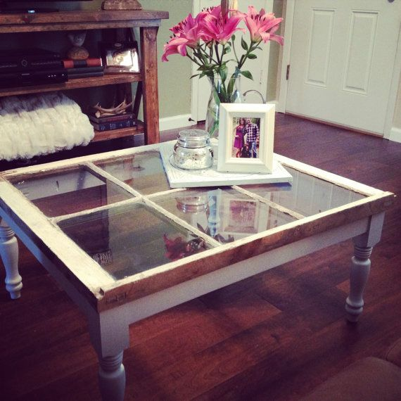 Reclaimed Vintage Window Coffee Table by TheCherishedNest on Etsy
