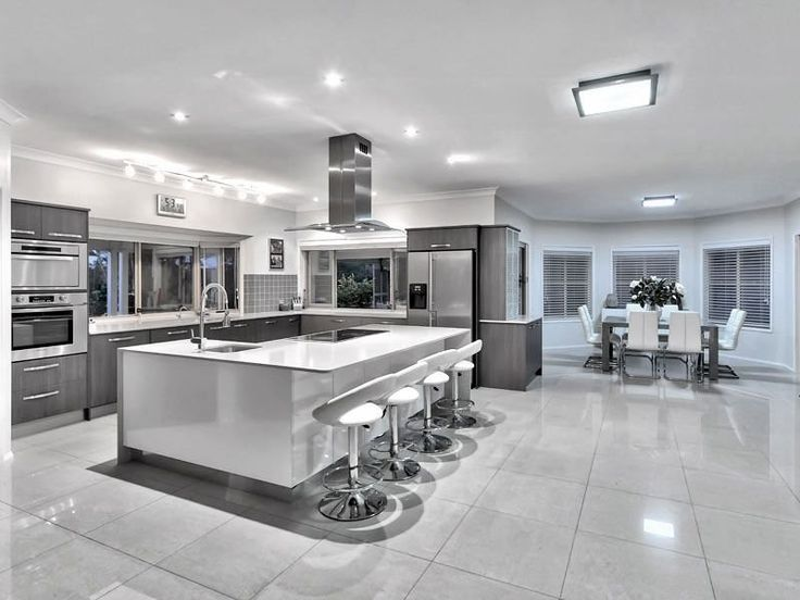 EXTREME Contemporary Minimal High Gloss Kitchen Design In Private Mansion.  | Home Decor | Pinterest | Gloss Kitchen, High Gloss And Kitchen Design