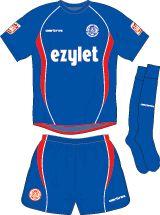 Aldershot Town FC Football Kits 2008-2009 Away Kit