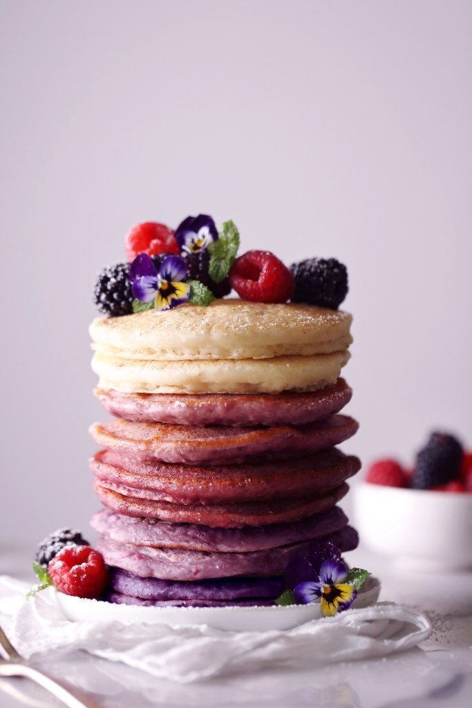 Ombré Berry Pancakes - Wifemamafoodie