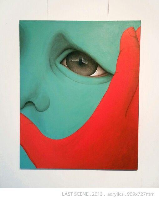LAST SCENE by DIREN LEE acrylic on canvas