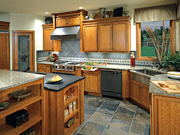 Delectable White Kitchen Cabinets Slate Floor Gallery Kitchen Kitchen Slate Tiles For Kitchen Cherry Kitchen Kichen Tile