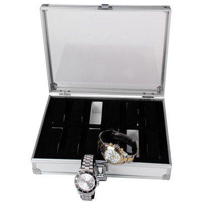 17 best ideas about watch display case watch box 12 grids watch display case square jewelry storage organizer jewelry women